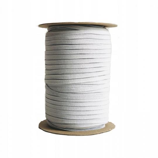 Plochá guma bílá 5 mm, bílá 100 m