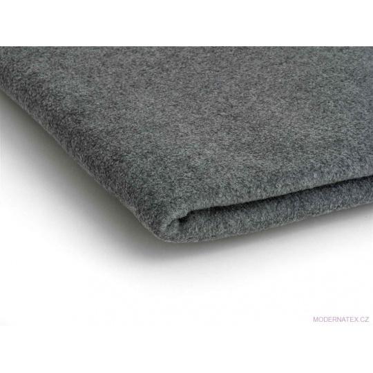 Látka Micro fleece barva šedý melánž 10