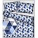 Bavlnená látka 481 vzor trojuholníky 9 cm, metráž 160 cm