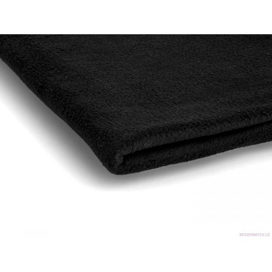 Látka Microfleece barva černá 12