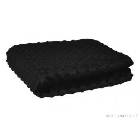Minky látky mikroplyš puntík  barva černá