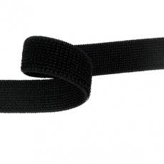 Zip elastický 20 mm barva černá  balení 25 m