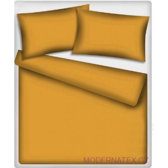 Jednobarevné bavlněné látky barva hořčicová-518-2