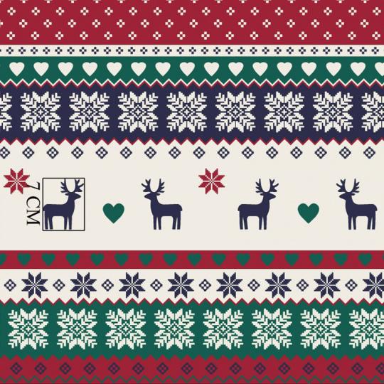 Vánoční vzory bavlněné látky, metráž 014