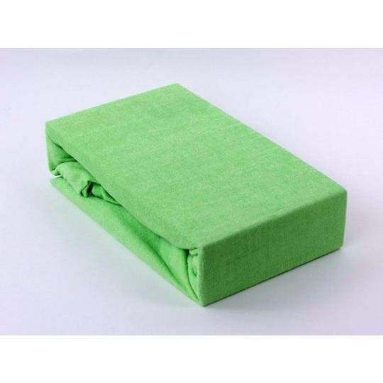 Froté prostěradlo dvoulůžko Exclusive - zelená 200x220 cm  varianta zelená