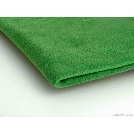 Látka Microfleece barva zelená  35