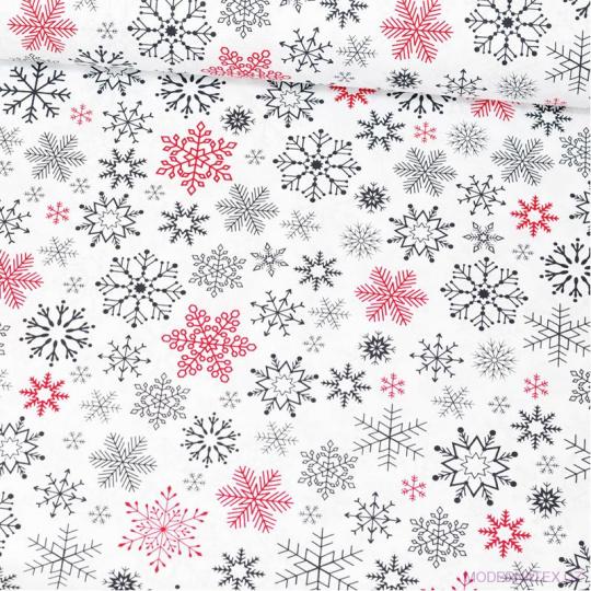 Vánoční vzory bavlněné látky, metráž vzor 1407