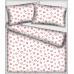 018 látka vzor srdíčka barva bílá