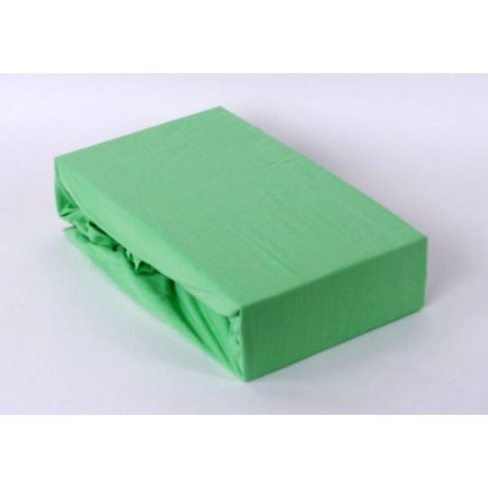 Exclusive Jersey prostěradlo - zelená 140x200 cm varianta zelená