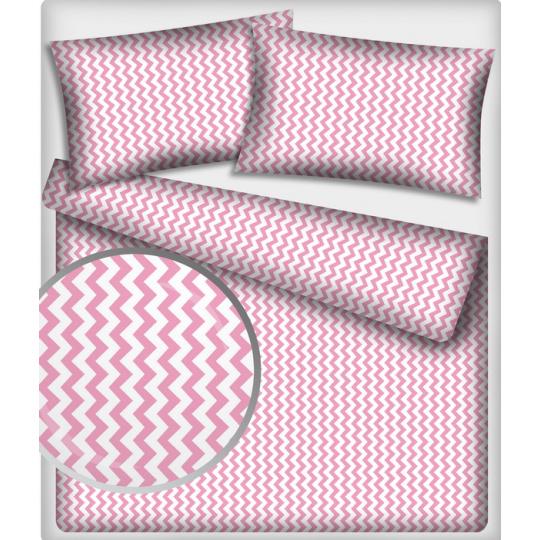 191 látky vzor cikcak, barva růžová
