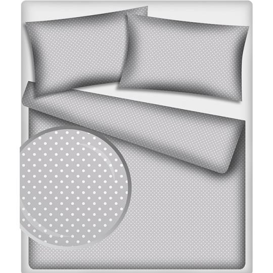 Bavlnená látka, vzor 7 mm bodka, farba šedá, metráž 150 cm