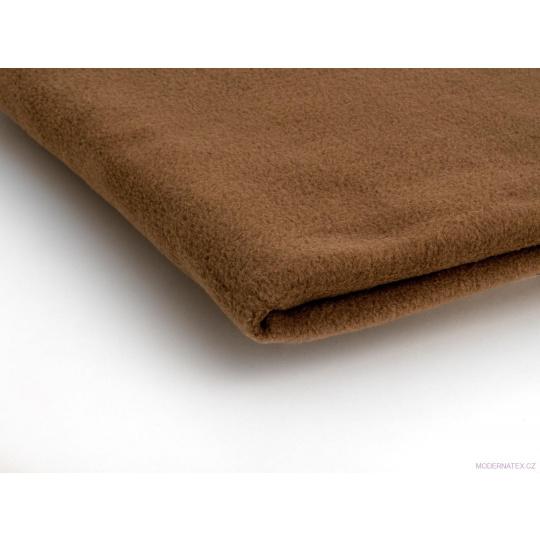 Látka Micro fleece barva toffi 32