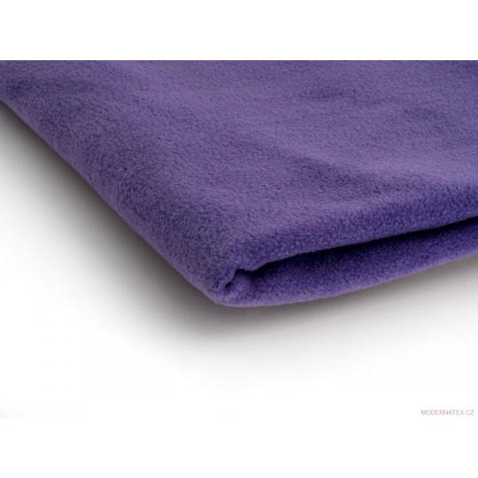 Látka Micro fleece barva fialová 38