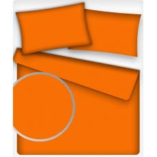 Jednofarebná bavlnená látka, farba Pomaranč 14, metráž 160 cm