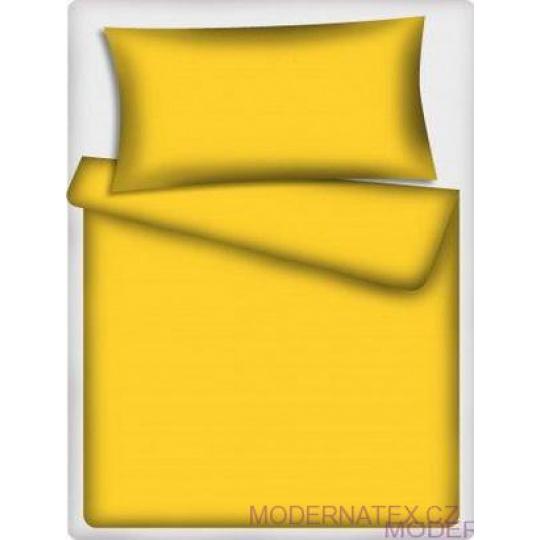 Jednobarevná bavlněná látka žlutá 503-1