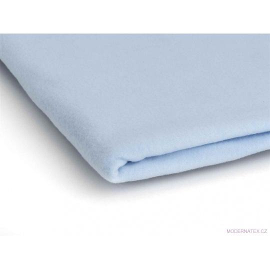 Látka Microfleece barva modrá 13