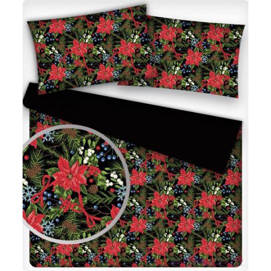 Vánoční dekoráční bavlněné látky vzor VÁNOCE 20 na bílém