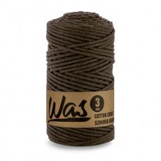 Bavlněná šňůra 3mm, 100m, TM. HNĚDÁ