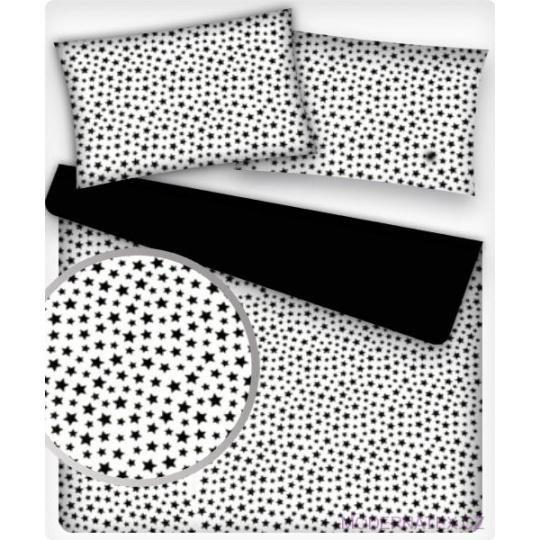 Bavlněné látky vzor GALARTIKA MINI ČERNÁ na bílém 367