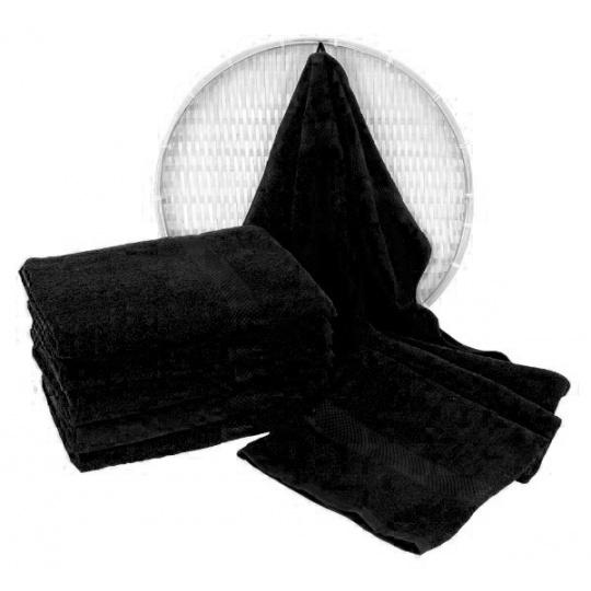 Froté osuška 70x140 cm barva černá