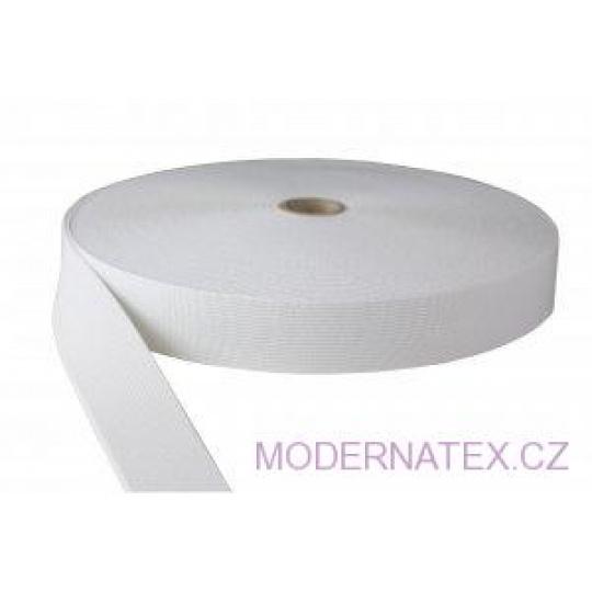 Guma pro šití oděvu  šíře 30 mm bílá  balení 25 m