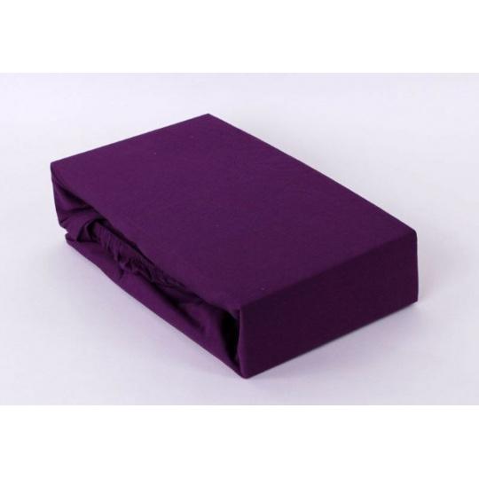 Jersey prostěradlo dvoulůžko Exclusive - fialová 200x220 cm  varianta fialová