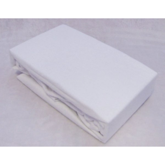 Exclusive Froté prostěradlo dvoulůžko BÍLÁ 140x200 cm  varianta bílá