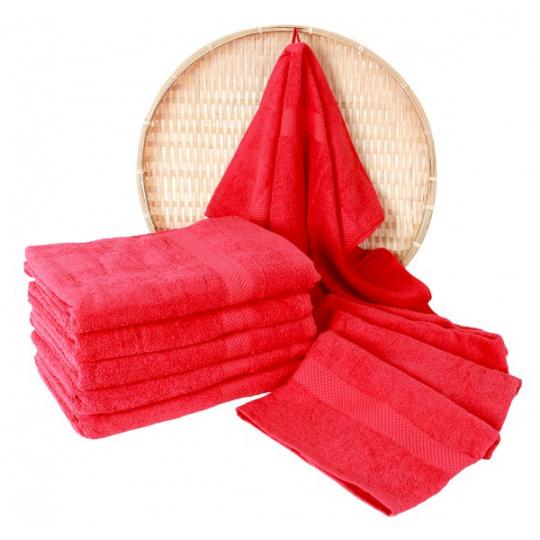 Darsi froté ručník 50x100 cm barva červená