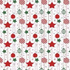 Vánoční dekorační bavlněné látky vzor VÁNOCE 30  barva červená