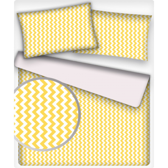 Bavlněné látky CIKCAK žlutý