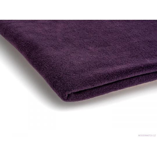 Látka Micro fleece barva sliva 40