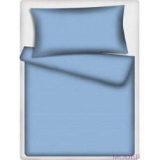 Jednofarebná bavlnená látka svetlo modrá 506-1, metráž 160 cm