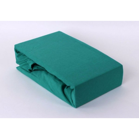 Exclusive Jersey prostěradlo jednolůžko - zelená 90x200 cm  varianta zelená