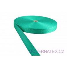 Polypropylénový popruh 25 mm mentolový (balení 50 m)