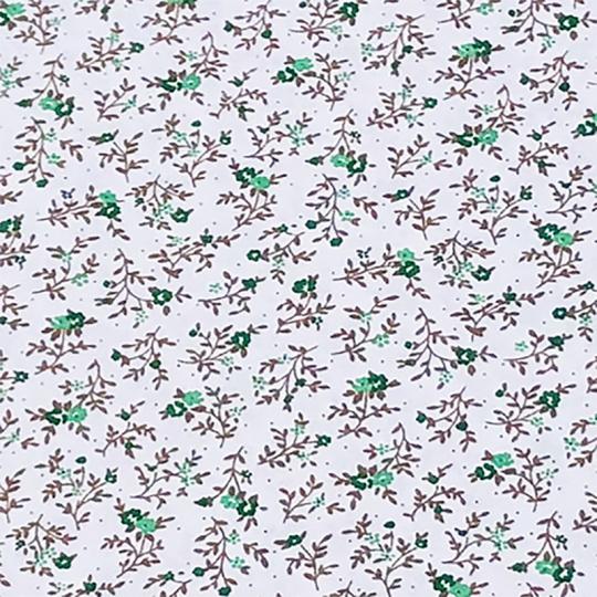 Bavlnená látka vzor kvetiny zelené vzor 1, metráž 160 cm